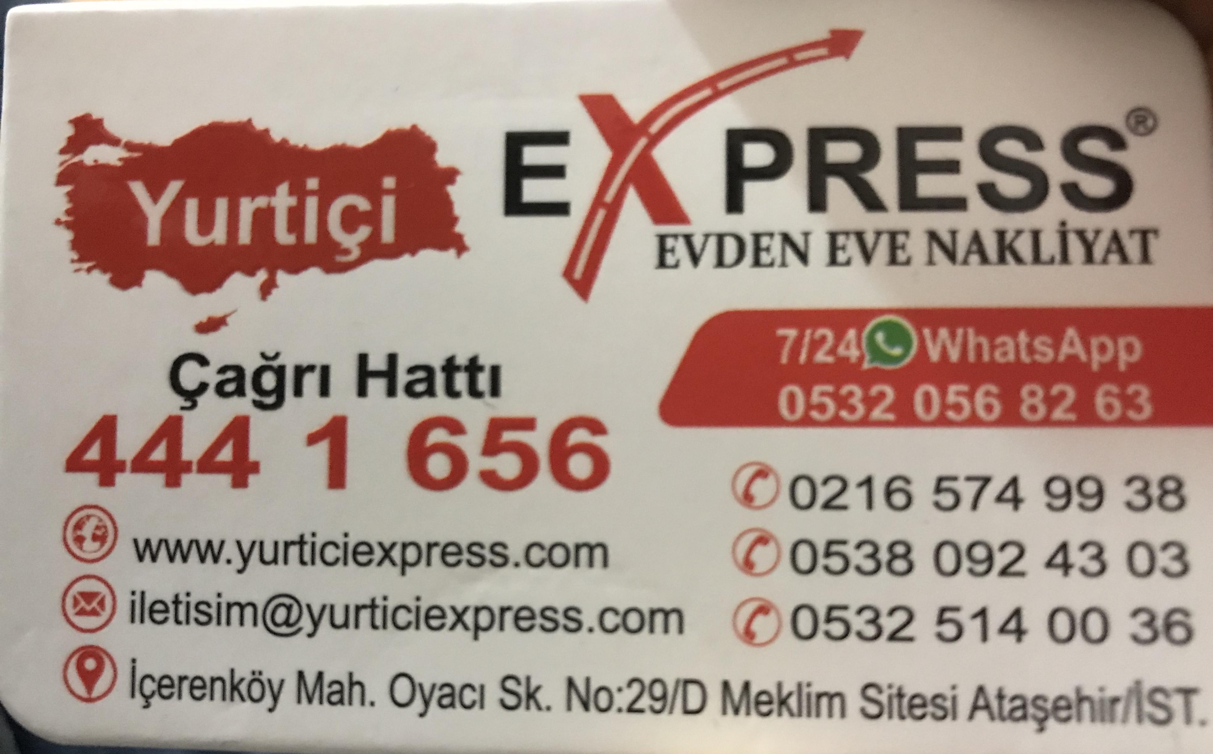 Yurtiçi Express nakliyat